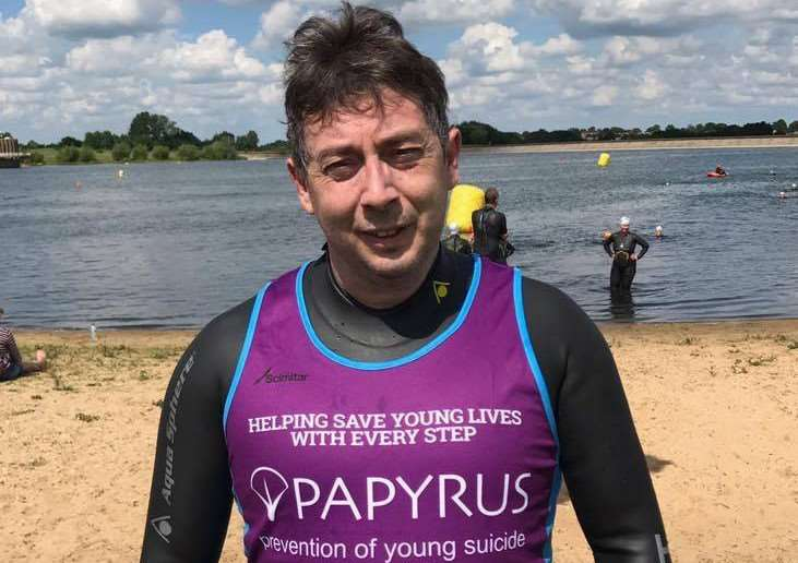 Rob Jenkins, of Great Cornard, is taking part in the 2017 Great East Swim, in memory of his daugther Claire.