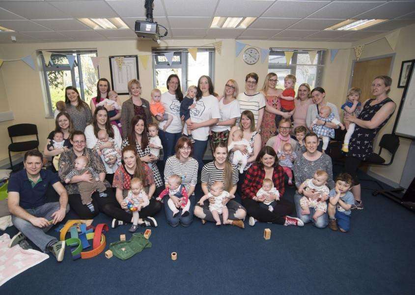 Haverhill Breastfeeding Friends at its launch party in the 'Haverhill Fire Station Community Room.'Picture by Mark Westley