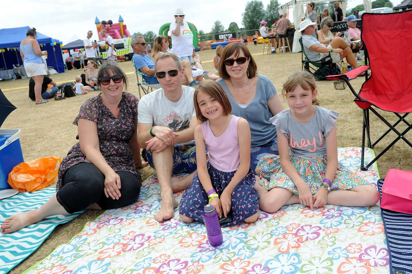 Bures Music Festival..Pictured: Ayers, Wheeler and Greatorex family enjoying the day...PICTURE: Mecha Morton. .. (2930176)