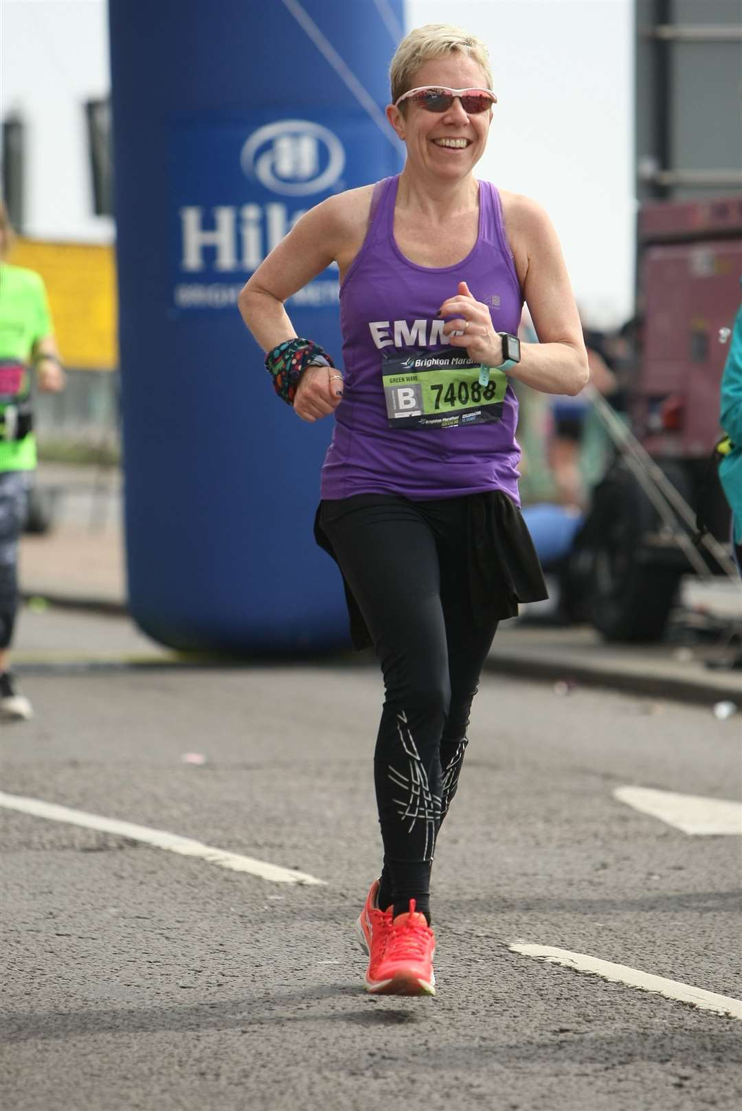 Emma Richbell, of Newton Croft, Sudbury, completed the Brighton Marathon for the first time, in support of the My WiSH charity at West Suffolk Hospital. Contributed picture. (13700113)