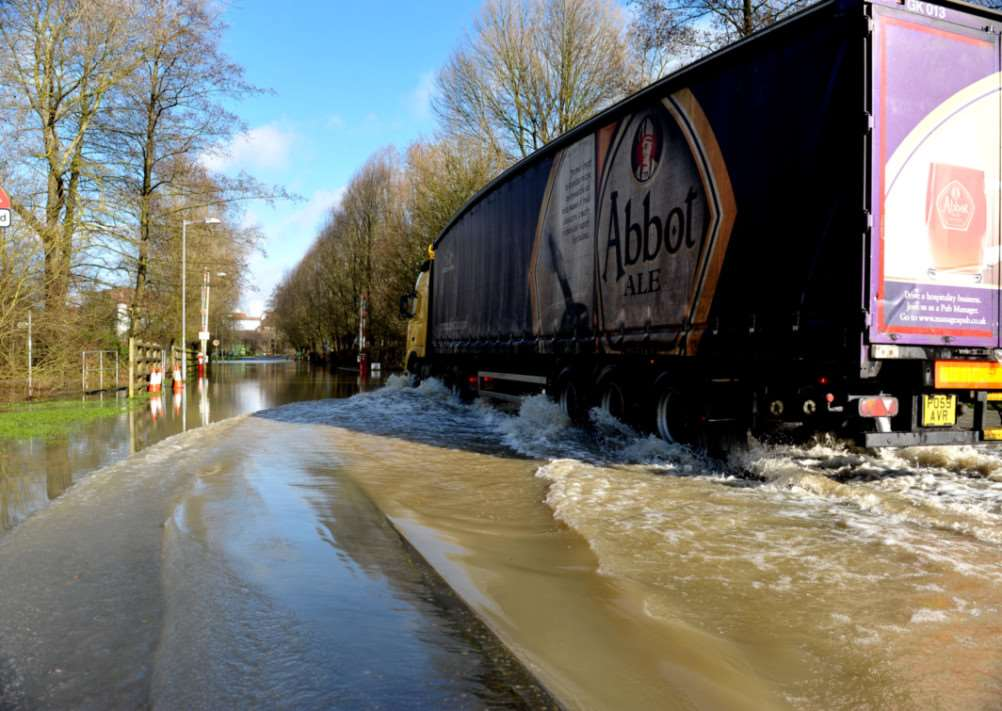 Heavy rain in February caused flooding in many places around Bury ENGANL00520140702124144