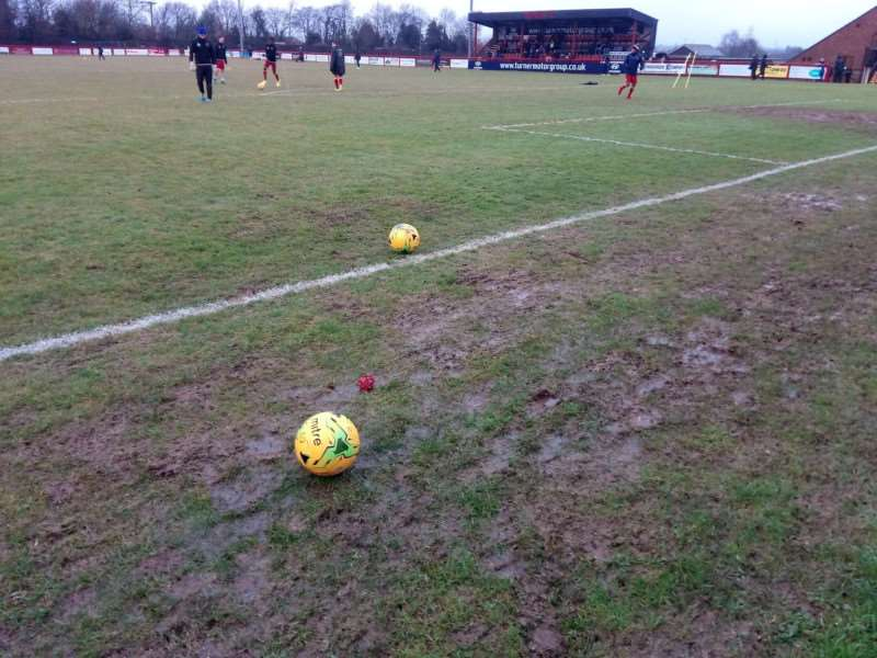 BIT OF RAIN: A lot of the local football pitches have been badly affected by the volume of rain that has fallen in recent weeks, leading to cancelled games