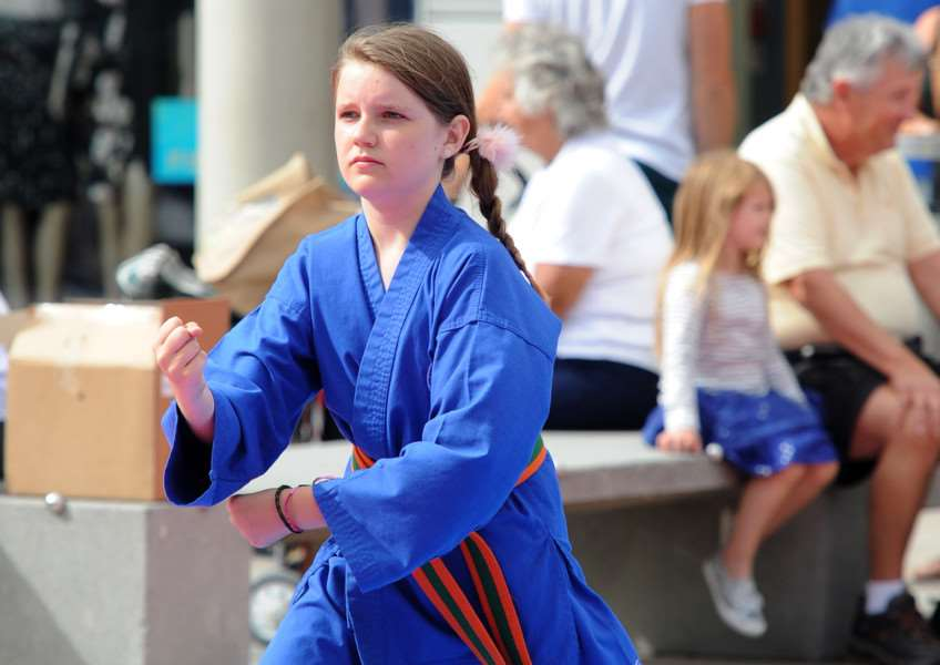 Northgate Karate demonstration at the Arc ANL-160509-082833009