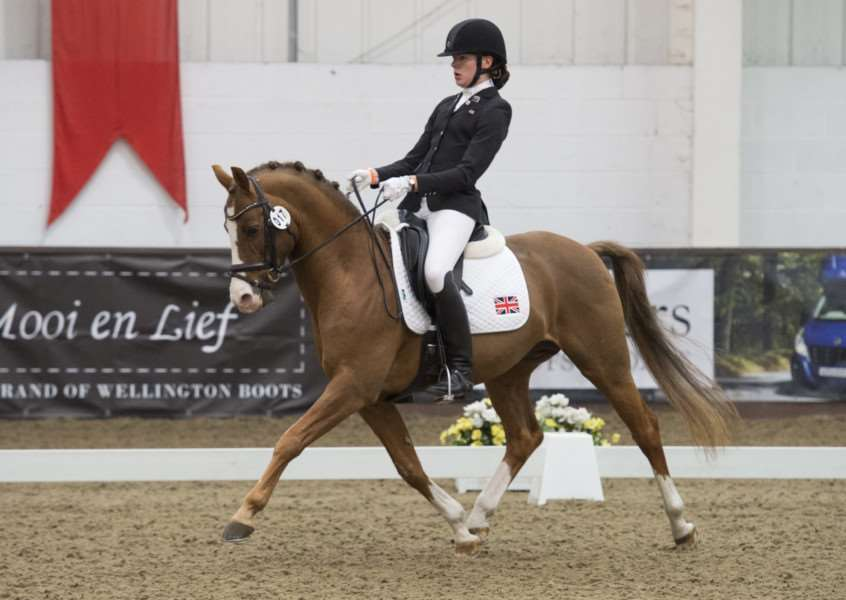 RIDING HIGH: Ruth Hole, pictured on Woody, is looking to book a double spot in the European Dressage Championships
