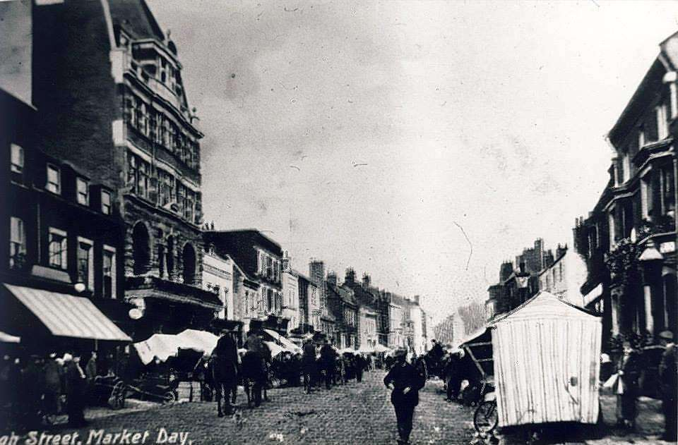 Newmarket High Street used to host the market (5438271)