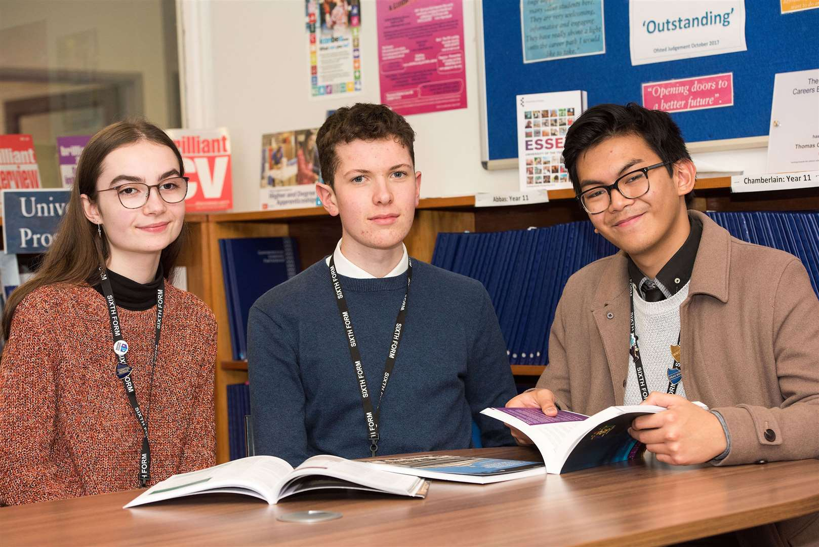 SUDBURY.Thomas Gainsborough School, Wells Hall Rd, Great Cornard, Sudbury.Sixth formers quizzed parliamentary candidates during a school debate on Monday..A group of pupils shared their thoughts on the up coming general election and important issues they would like to see addressed. Gemma Deacon, Charlie Heeks and Jacob Micvlob Picture by Mark Westley. (23270064)