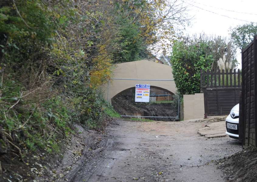 Plans for a house in a former quarry site in Sudbury have been passed but without access under a 150-year-old bridge that was damaged during excavation works.