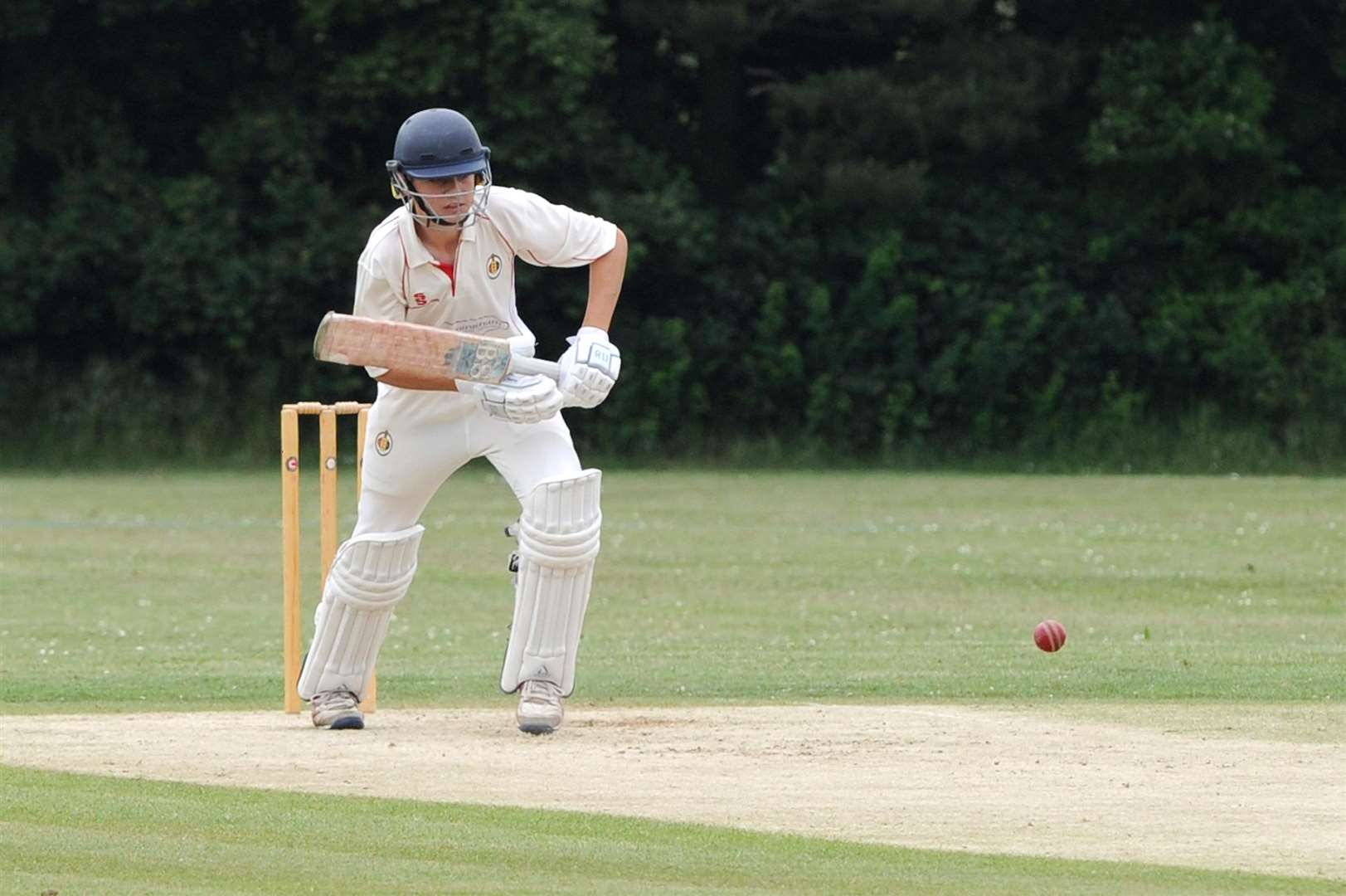 CRICKET - Stowmarket (Batting) v Nacton.. Pictured: George Tilbrook... PICTURE: Mecha Morton. (2543159)