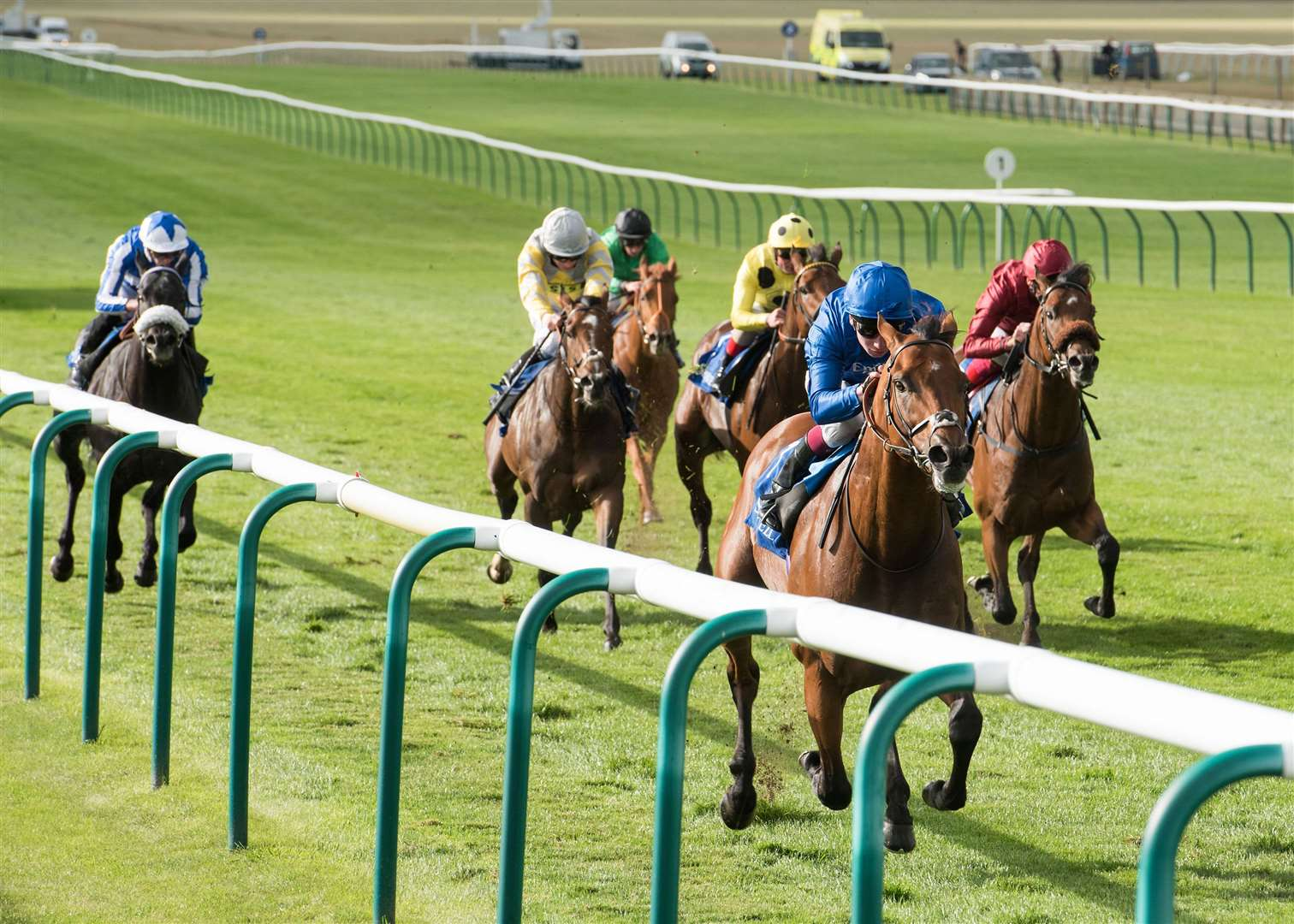 Newmarket Racing Rowley Mile Cambridgeshire meeting Shadwell day. Shadwell Joel Stakes (Group 2).1. Benbatl.Winning jockey: Oisin Murphy.Winning trainer: Saeed bin Suroor Picture by Mark Westley. (35445709)