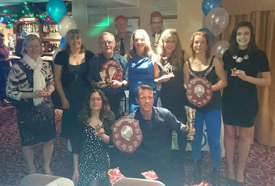 OUTSTANDING ACHIEVERS: Members of Newmarket Joggers show off their trophies