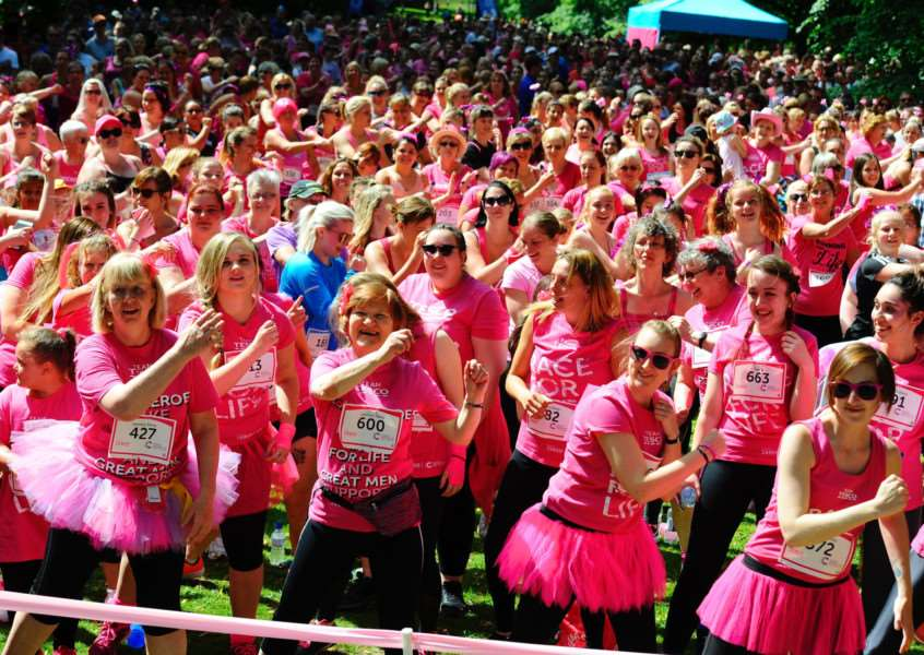 Bury St Edmunds, Suffolk. Cancer Research UK's Race for Life at Nowton Park. ''Picture: MARK BULLIMORE