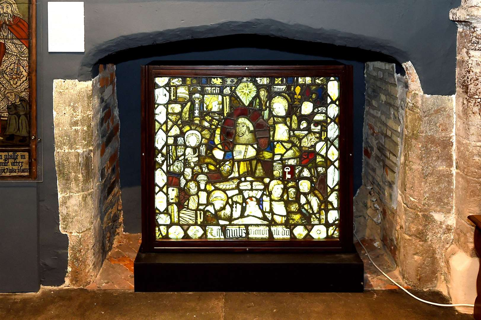 A mosaic of stained glass from the Abbey, dating back to the 14th-16th Century. Picture by Mecha Morton