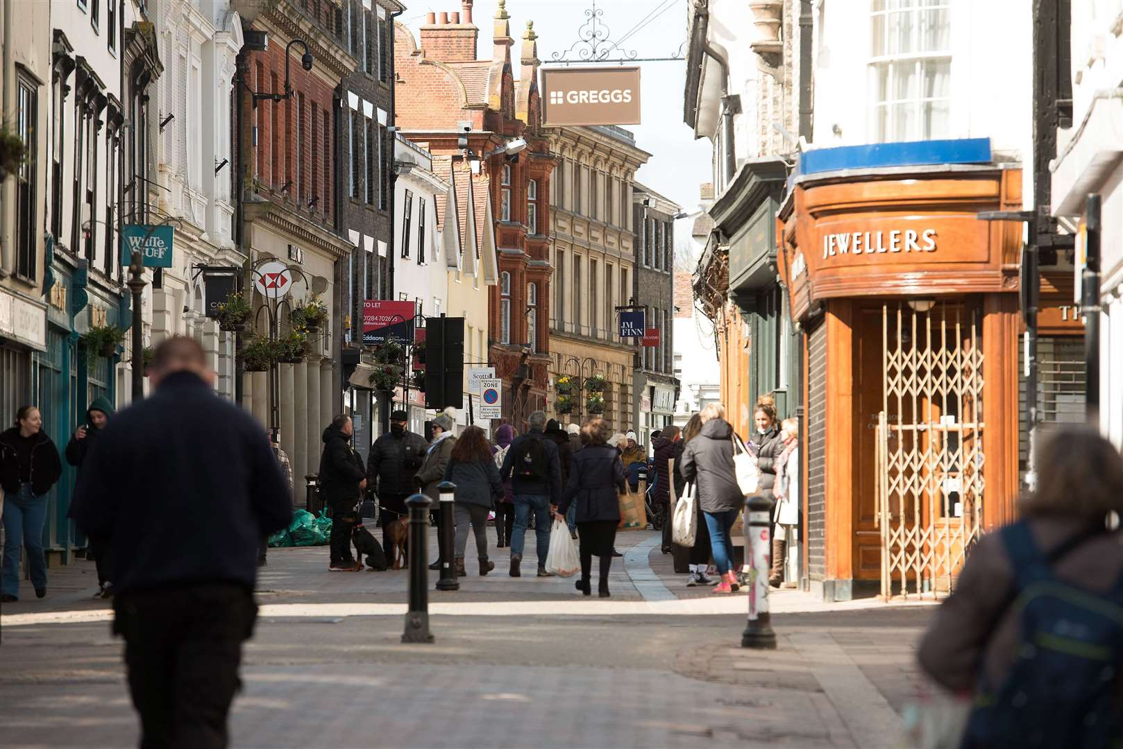 The traffic closure in Abbeygate Street will be extended from its current hours of 10am to 4pm, to 8am to 6pm to help hospitality businesses. Picture: Mark Westley
