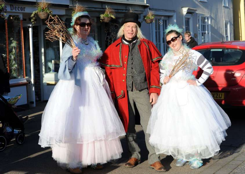 Long Melford Olde Christmas''Pictured: Emma Butler Smith, Nat Burt and Annie Hoyle'''PICTURE: Mecha Morton