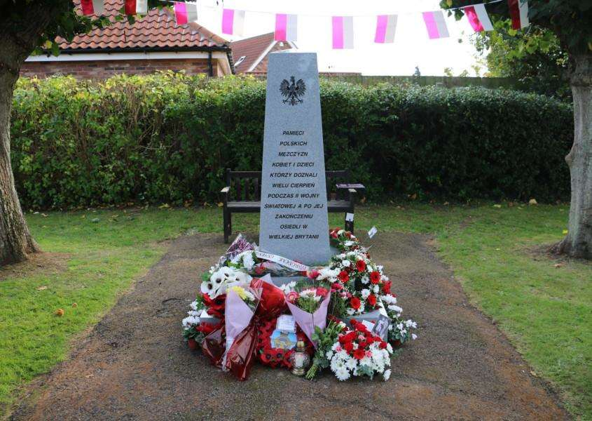 The Polish memorial in St Peter's Churchyard, Brandon