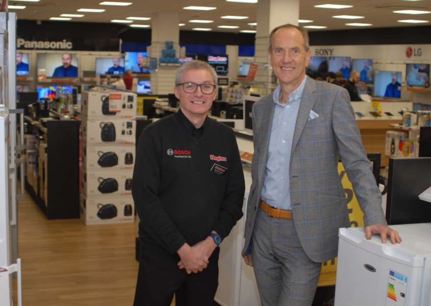 Robert Hughes and Andy Yallop in the new Bury St Edmunds store