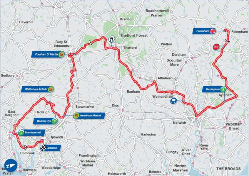 Stage seven of the Aviva Tour of Britain ANL-150709-164023001