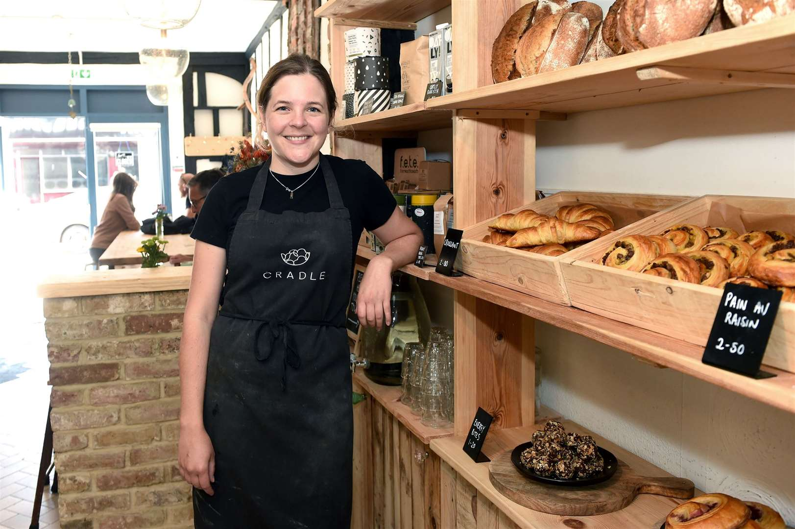 Cradle cafe in North Street, Sudbury provides plant-based dishes and pastries. The business prides itself on producing food from plant-based products, which are ethically sourced and boosts biodiversity...Pictured: Holly Sutton...PICTURE: Mecha Morton ... (15399497)