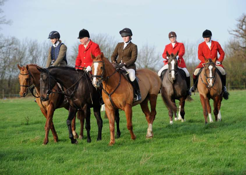 Boxing Day Hunt, Hawstead ANL-151227-172119009