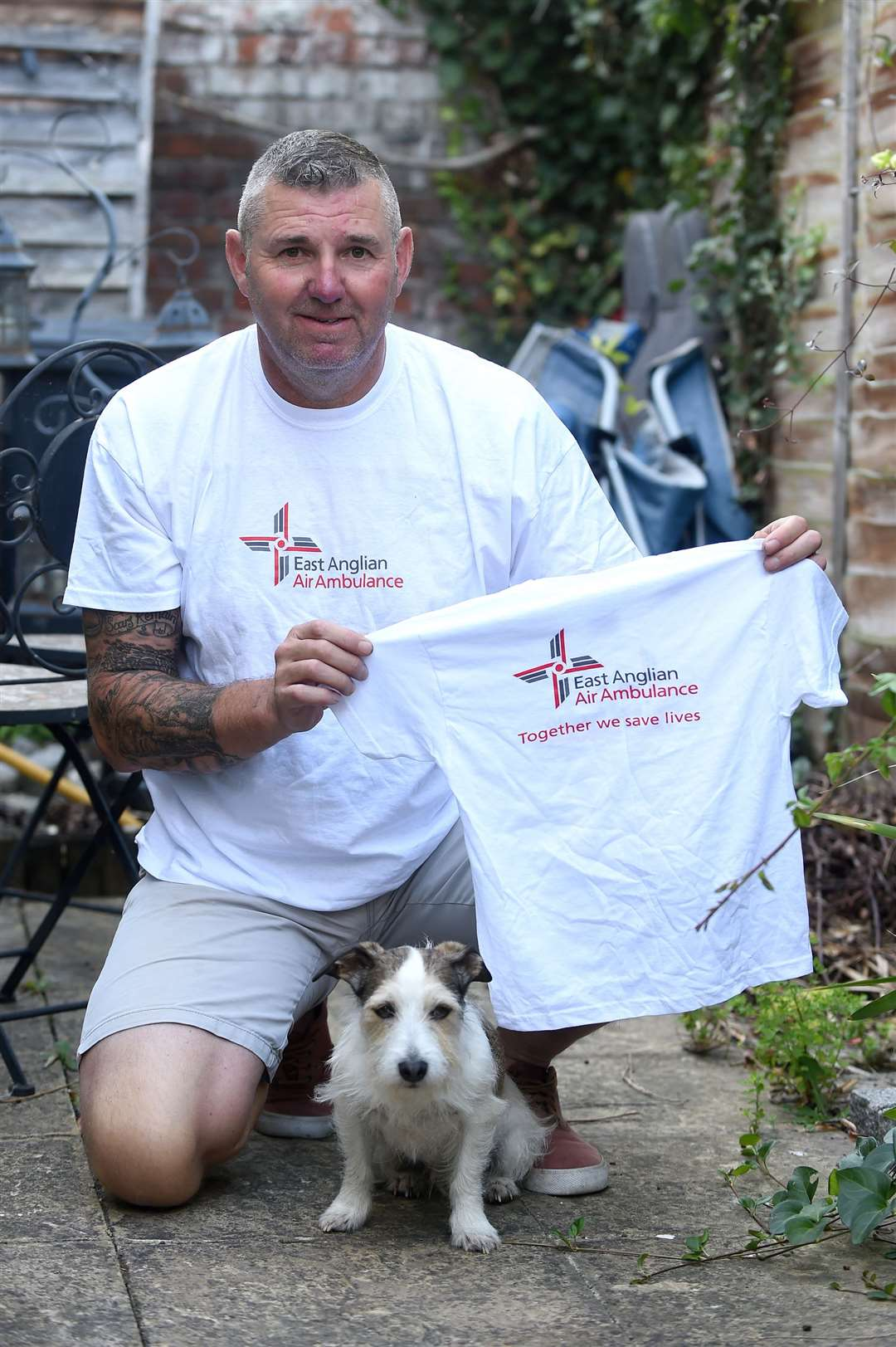 Sudbury resident Dick Neill and his dog Toby ascended the Britain's Three Peaks - Mount Snowdon, Scafell Pike and Ben Nevis - to raise money for the East Anglian Air Ambulance (EAAA).....PICTURE: Mecha Morton ... (16092502)
