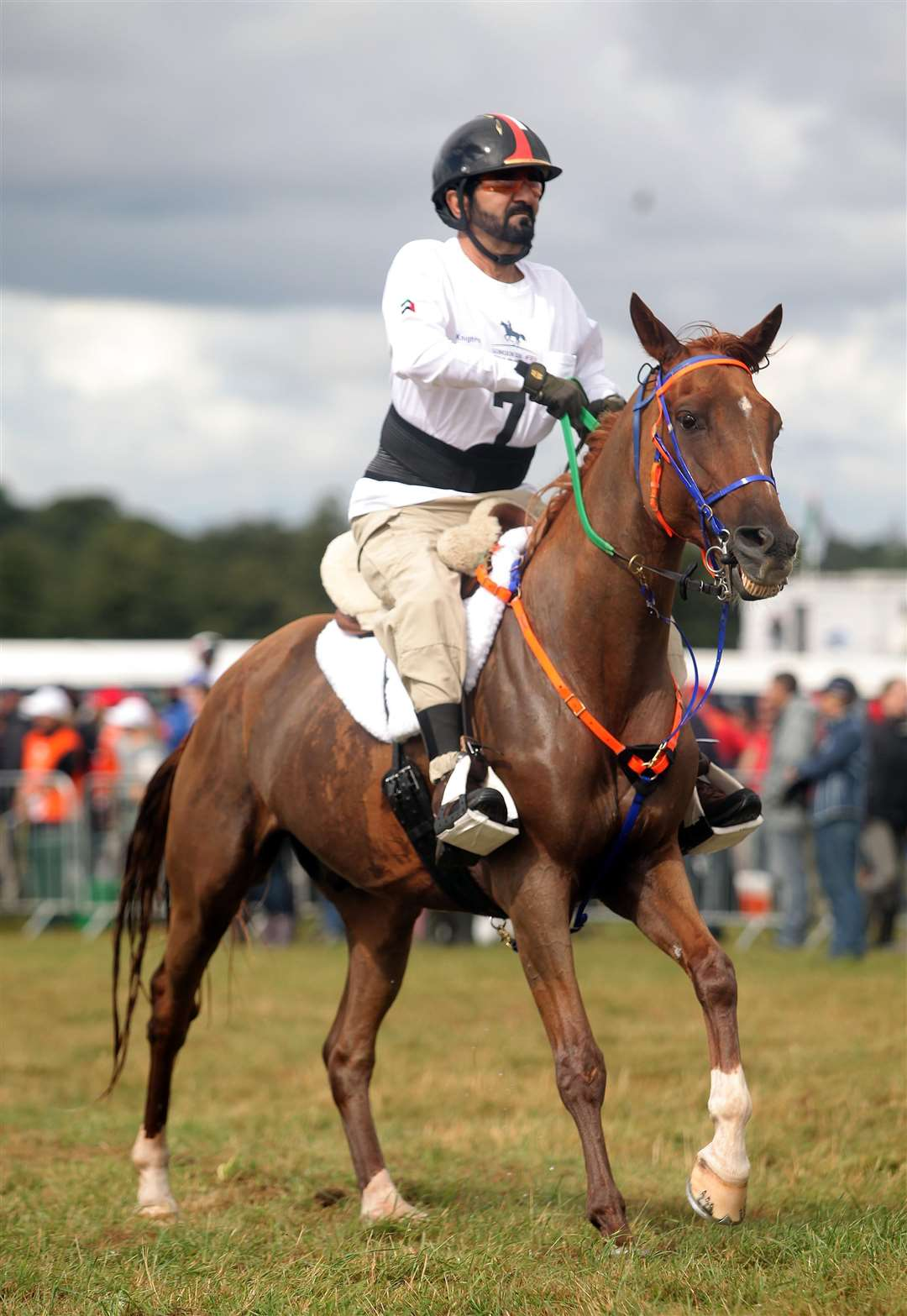 Sheikh Mohammed heads out on the second leg at the World Endurance Championships in Euston Park, 2012