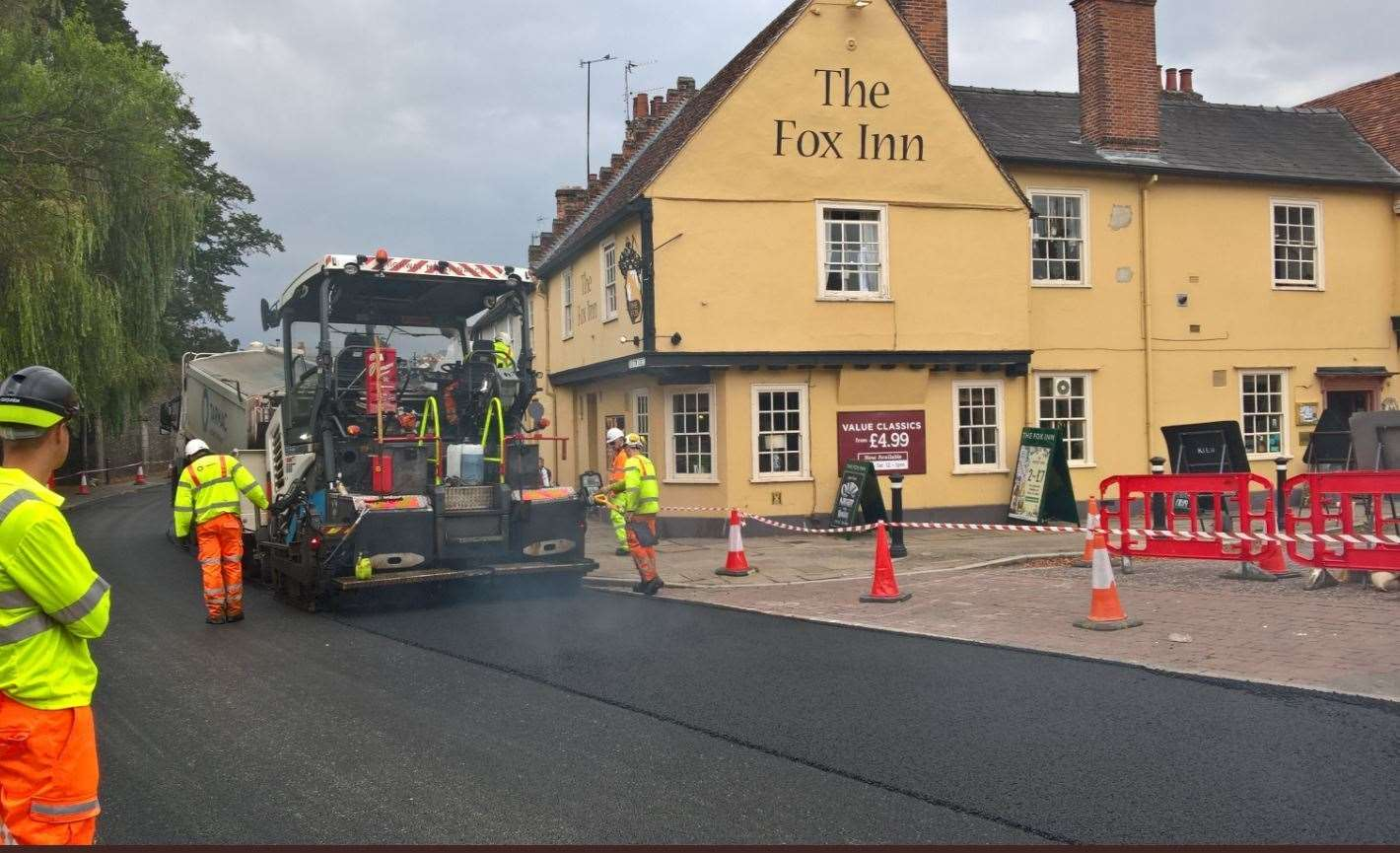 Suffolk Highways has been criticised for the timing of the roadworks (16444303)