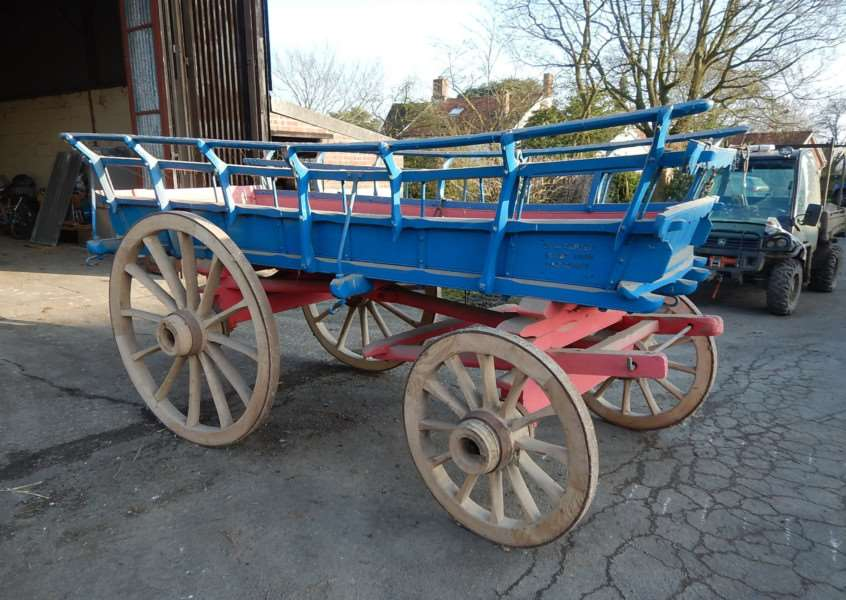 One of two four-wheeled farm carts supplied by G Thurlow and Son, Stowmarket
