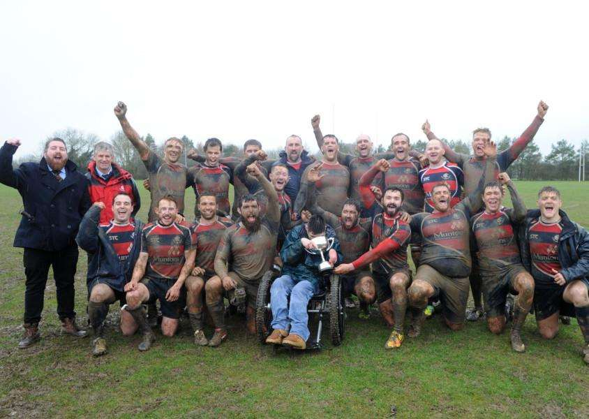 VICTORY: Stowmarket RFC won the league on Saturday, weeks after also securing the Suffolk Cup. Picture: Mecha Morton