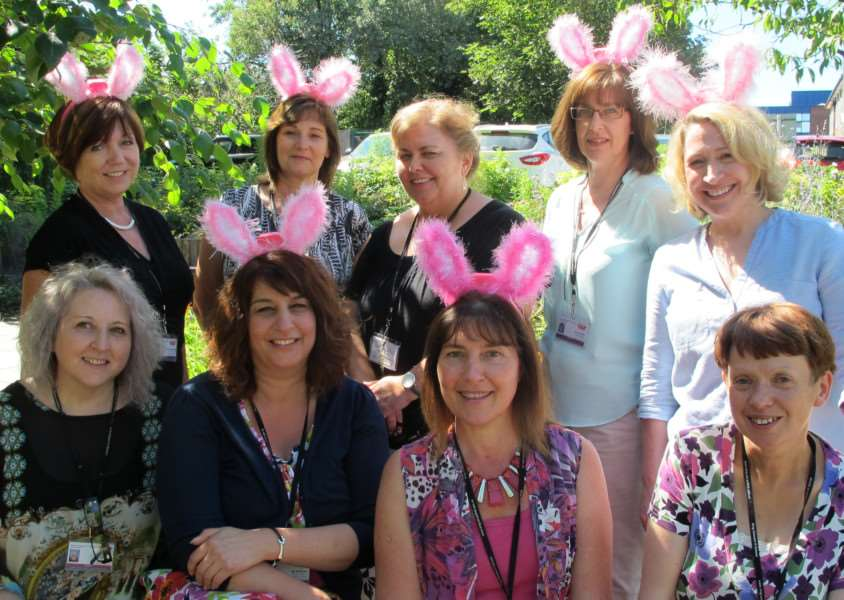 The Sole Sisters, friends and work colleagues from King Edward VI School, can't wait for their Girls Night Out ANL-160729-142353001