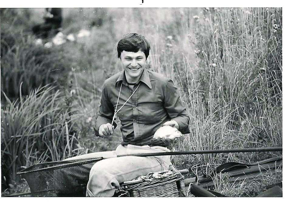 Nick Bonney at West Stow CP Lake in 1980