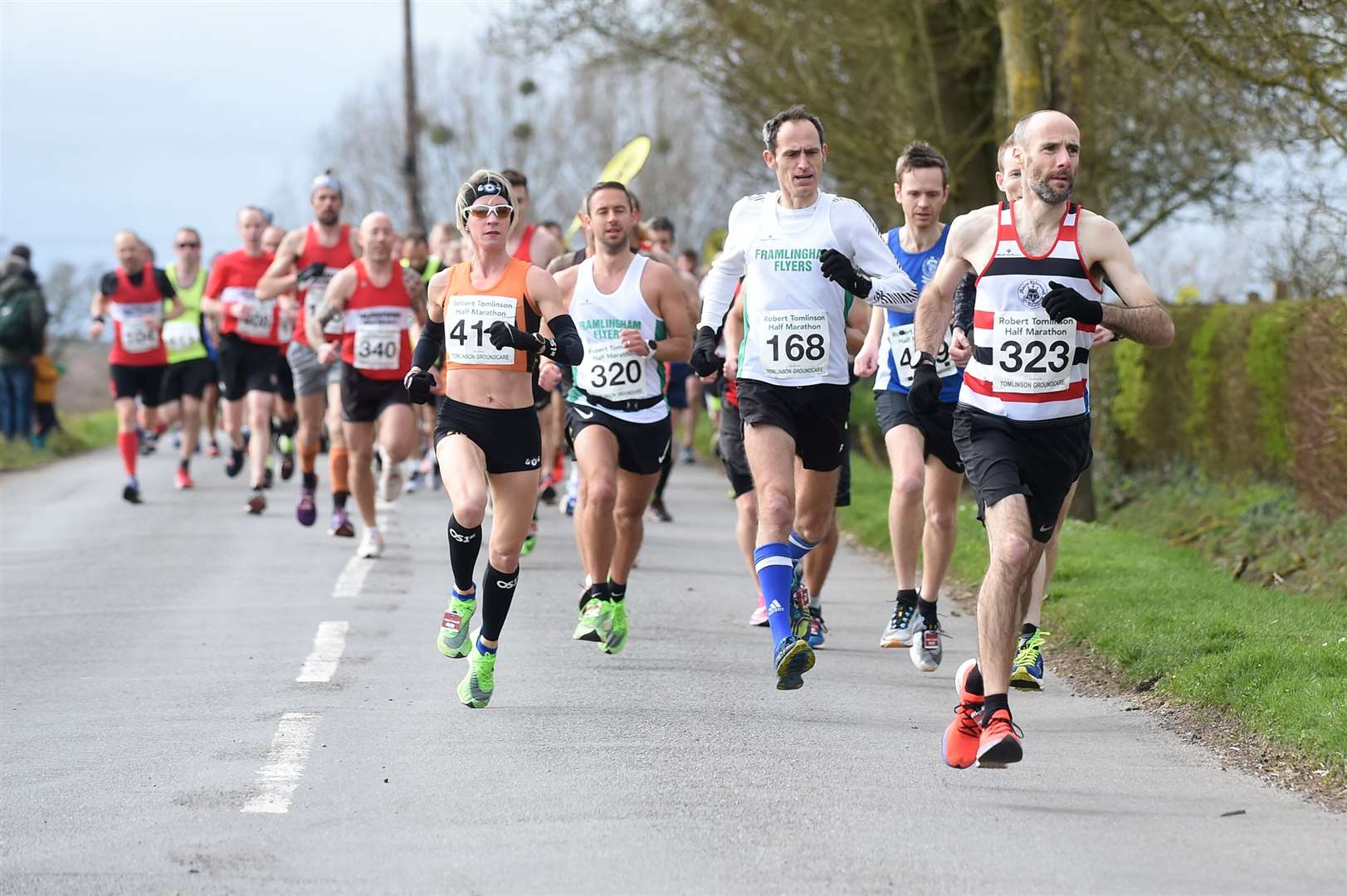 RUNNING - Stowmarket Robert Tomlinson Half Marathon..Pictured: Framlingham Flyers and St Edmund Pacers...PICTURE: Mecha Morton .... (31693502)