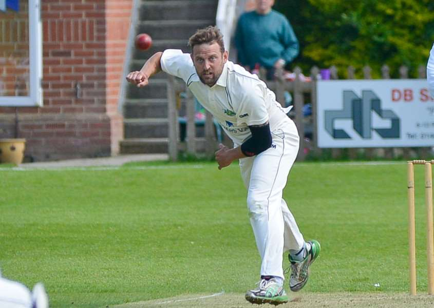 GOOD DAY: Gareth Boon was the pick of the bowlers for Long Melford, who finished 4 -48