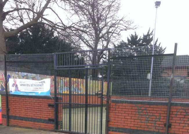 The sports pitch next to the Burton Centre in Haverhill ANL-150701-125203005