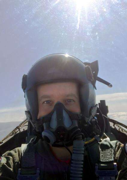 MP Matt Hancock's ultimate selfie in the back seat of a USAF F-15