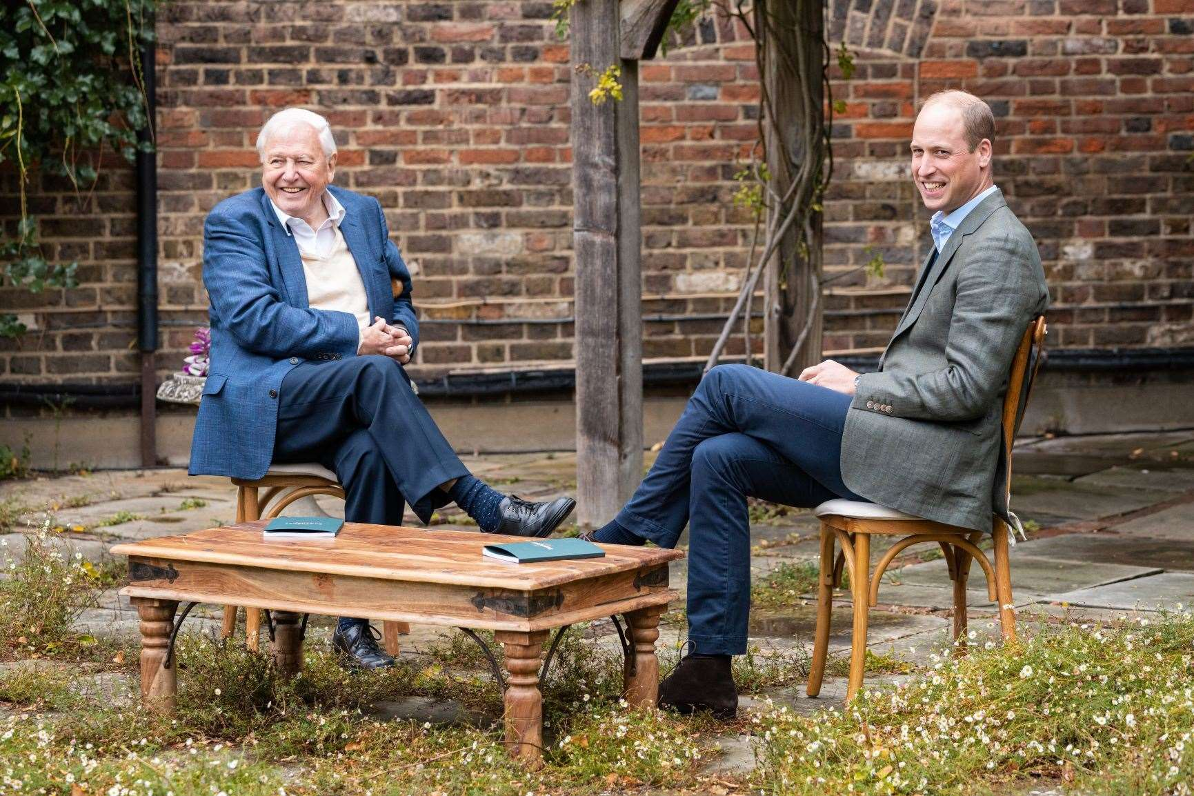 William with Sir David Attenborough, a member of the Earthshot Prize Council (Kensington Palace/The Earthshot Prize)