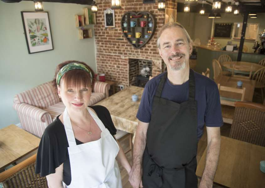 Linda Gregory and partner Mark Sutcliffe who are opening of new vegetarian restaurant'Kind Cuisine, 11a Friars Street, Sudbury''Picture Mark Westley ANL-160913-205232009