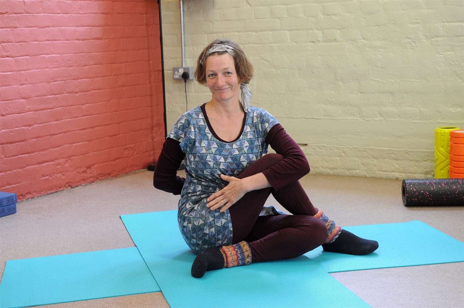 Active wellbeing taster session in Long Melford..Pictured: Movement and Yoga with Brenda Lauw...PICTURE: Mecha Morton... (8539892)