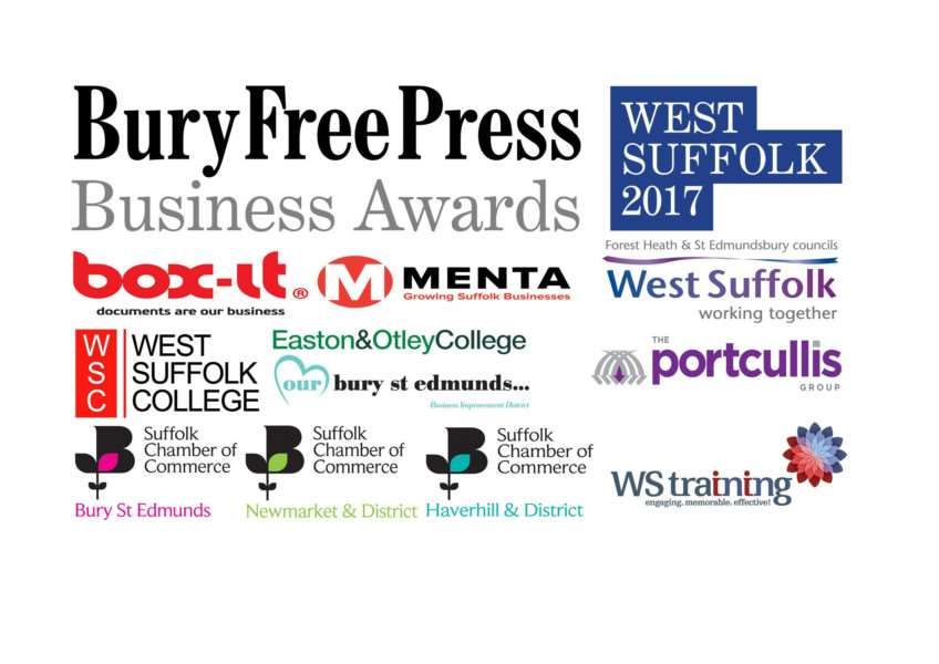 Bury Free Press Business Awards 2017 sponsors and partners