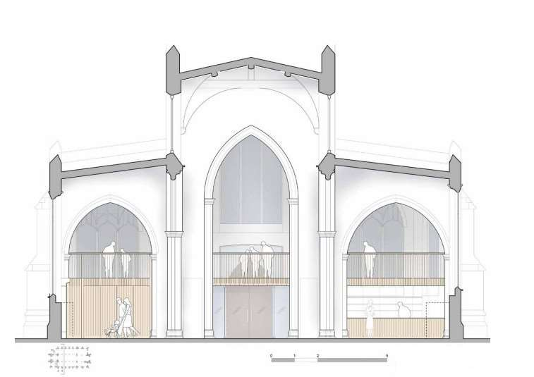 Artist's impression of the improvements to St Peter's Sudbury. ANL-160125-173755001