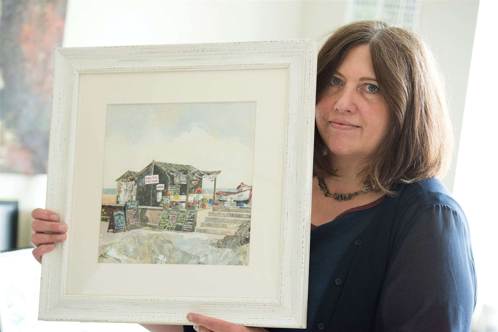 Sudbury. Artist Ailsa Lynn for feature on Suffolk Art Society. Picture by Mark Westley. (13320607)