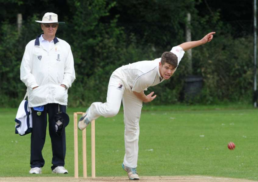 ANOTHER DEFEAT: Daniel Pass goes in hunt of wickets as Haverhill lose again.