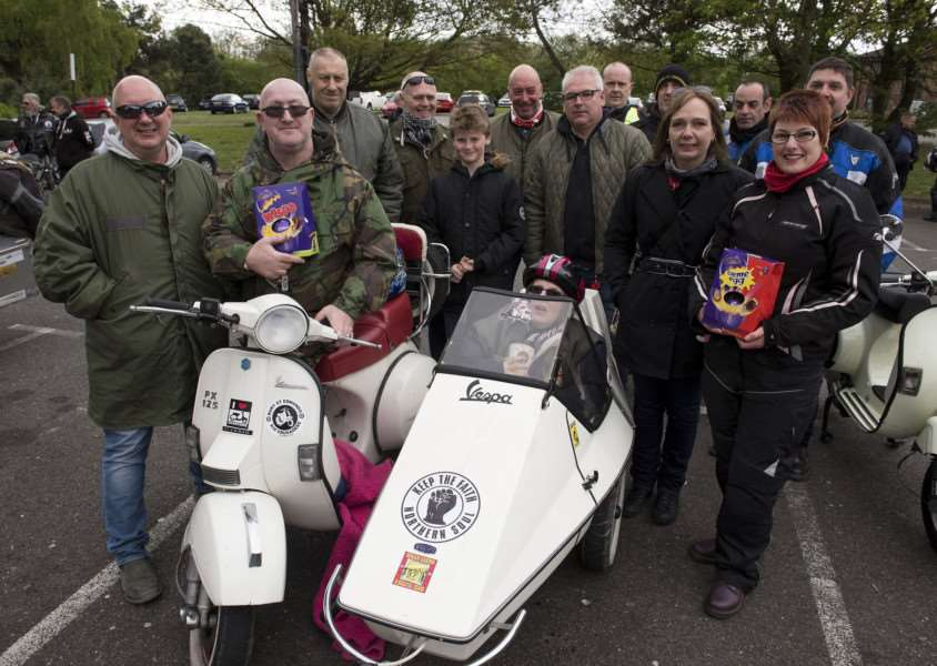 Kevin and Sally on an Easter egg and toy run earlier this year