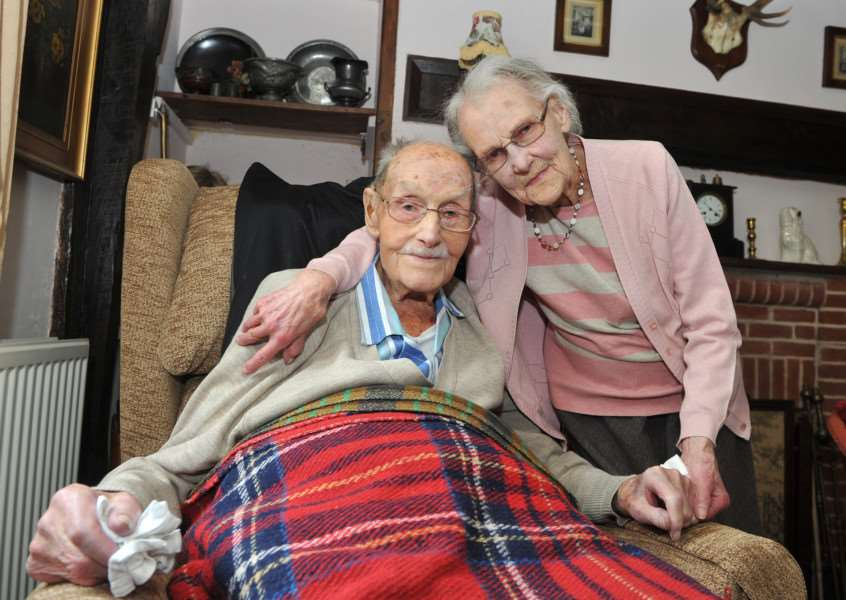 Liley and Sam Rose were married 75 years on Monday ANL-150617-151658009