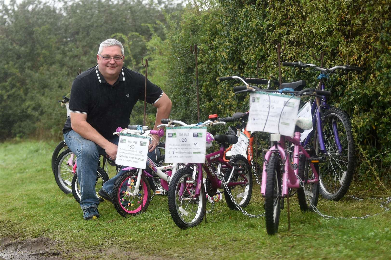 Andy Curtis is donating profits from fixing and selling bikes to raise money for the Samaritans. Picture by Mecha Morton