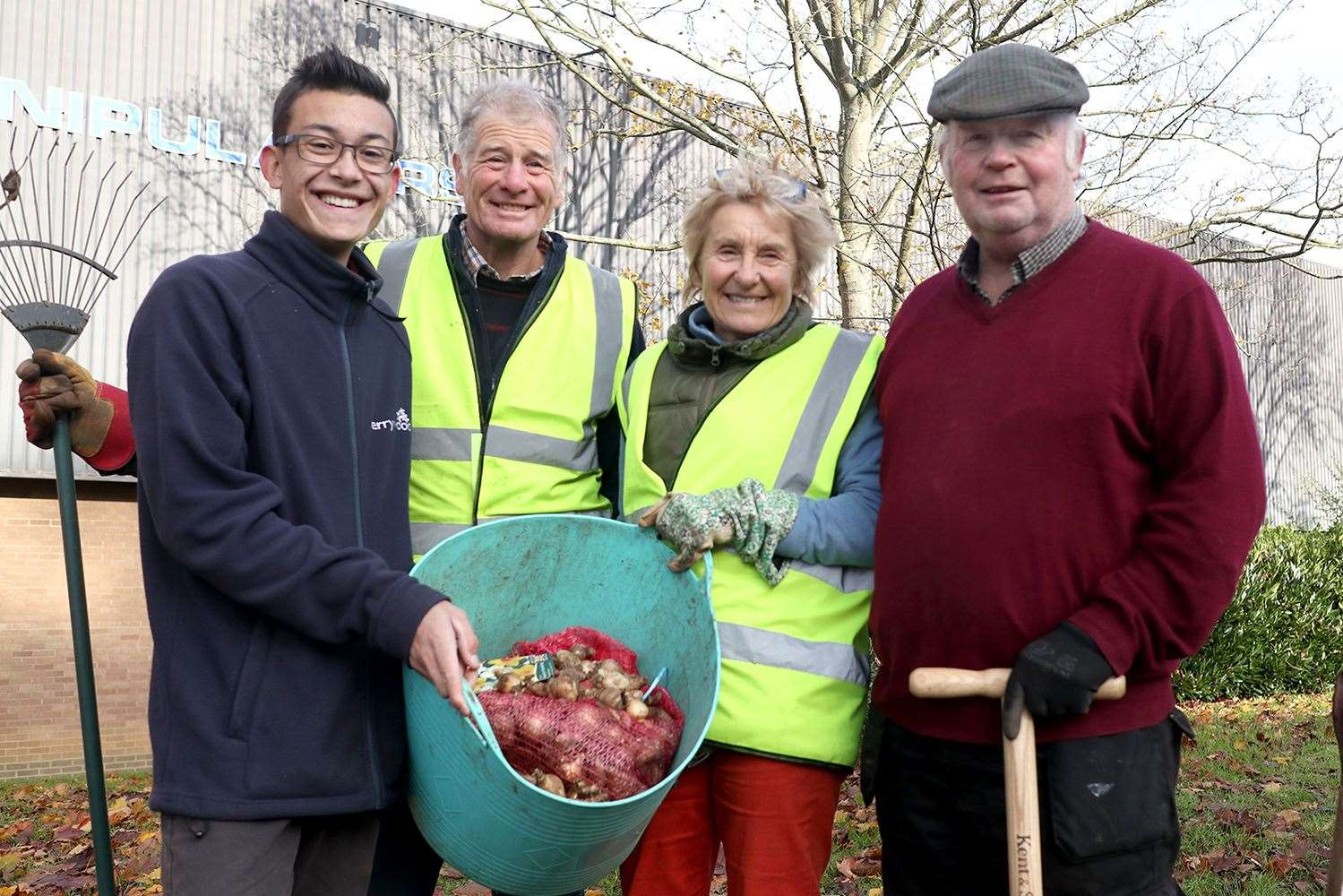 Perrywood of Sudbury, met the Sudbury In Bloom team to see how the bulb planting was progressing. (21897755)