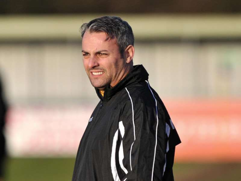 UNDER PRESSURE: AFC Sudbury manager Jamie Godbold is taking with overturning a four-point deficit with just five matches of their season remaining