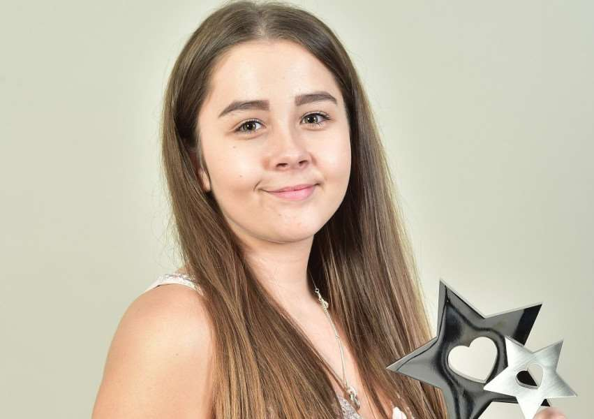 Charlotte King, who works at Cleve's Place Care Home in Haverhill, won the Apprentice of the Year Award at The Residential Care Services (RCS) Stars awards. Picture by Clare Banks.