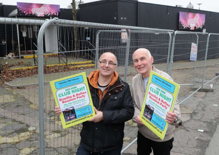 Paul Chaplin and Mike Hobson outside the former Club Brazilia