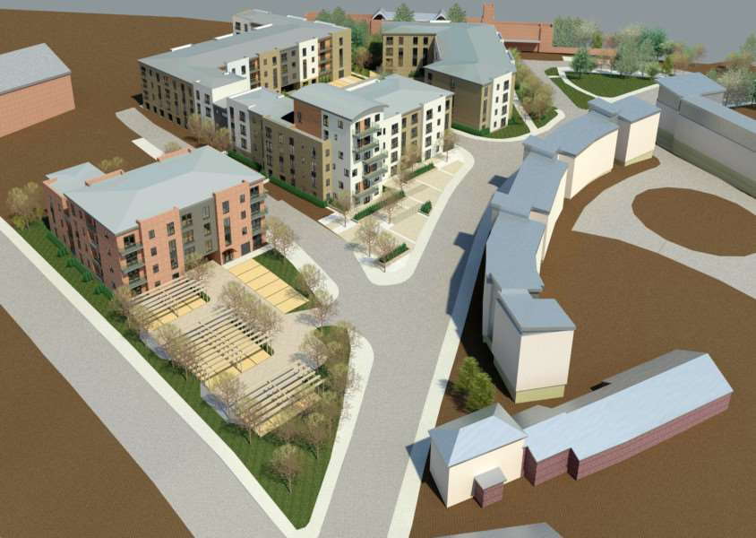 Phase One of the Station Hill development - overview looking towards railway station ENGANL00120130307103641