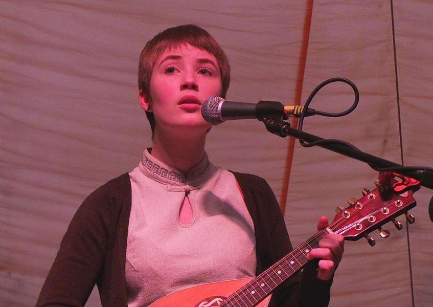 Tilly Dalglish, 17, from Stanton, performing at the Beverley Folk Festival ANL-150728-105424001